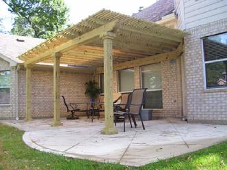 Patio Covers Houston, Texas - Custom covered patio covers.