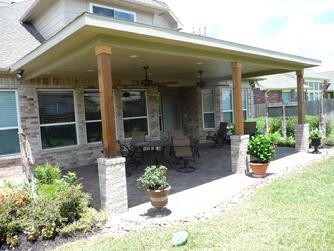 Perfect Pearland Covered Patio