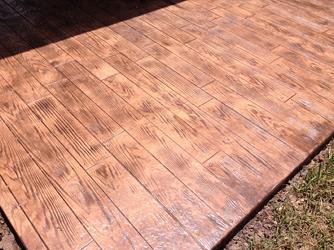 Decorative Concrete Cypress. Stamped Concrete   Wooden Plank