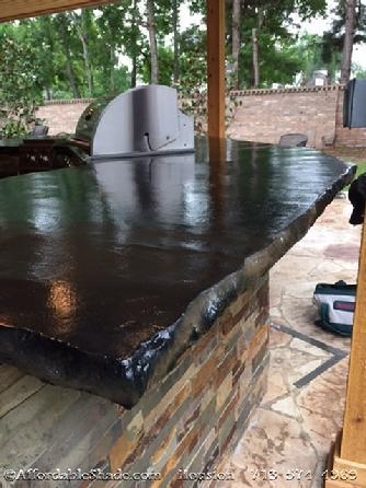 Outdoor Kitchen Builder Houston. Concrete Countertop ...