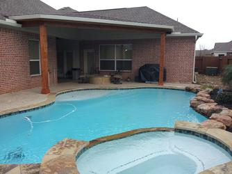 Custom patio cover contractor in houston designing for Affordable pools warrenton missouri