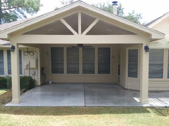 houston patio cover designs - Gable Patio Designs